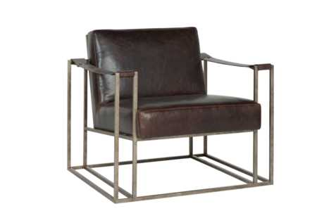 Dekker Armchair: Saddle Brown Leather