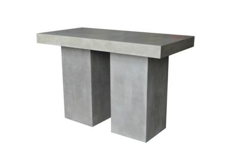 Raphael Bar Table Lge (TAB284)  Raphael Outdoor Dining Collection - Papaya  Papaya Raphael Outdoor Concrete Steel Black