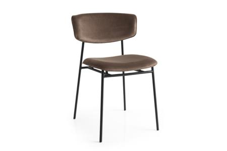 Fifties Cs1854 P15 S0G Soild Brown Front Angle Fifties Chairs   Calligaris  Fifties Chairs   Mid