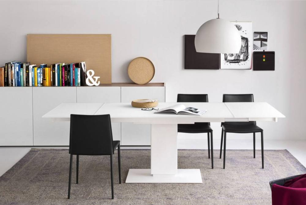 Echo Extension Table White Setting Calligaris Cantilever