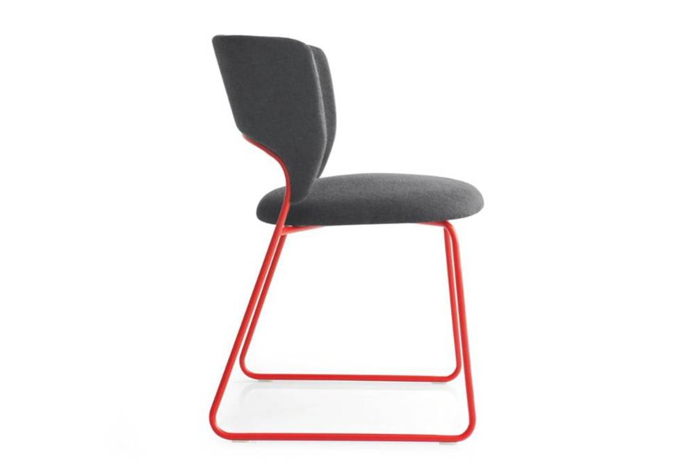 Calligaris duffy dining chair red side  Calligaris product shots   Match, Duffy