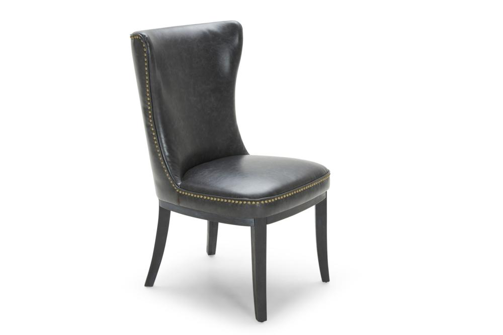 Wessex D/Chair: Black Buffalo Lthr G039