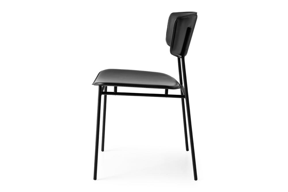 Fifties Chair: Black/Black Leather