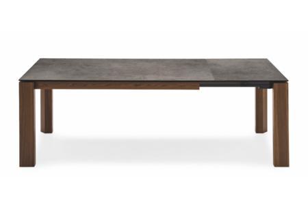 Omnia Table 160(220)x90cm: Smoke/Lead Grey Ceramic