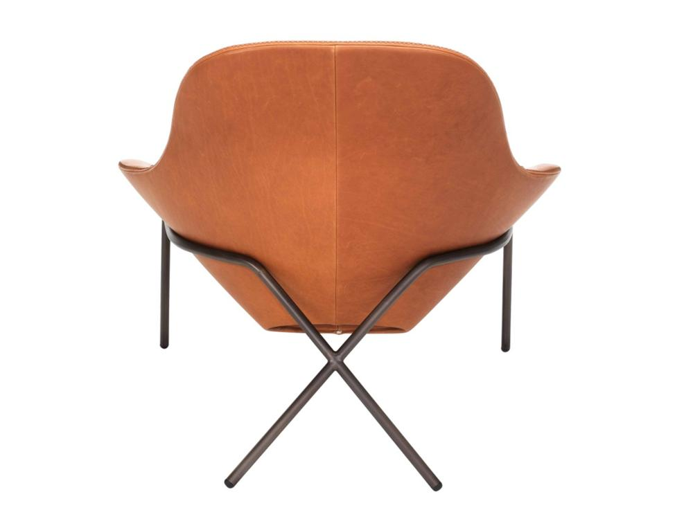 miami brown leather chaise longue