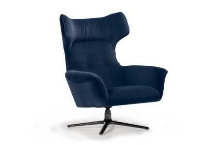 MoroSwivel Chair : Blue Velvet