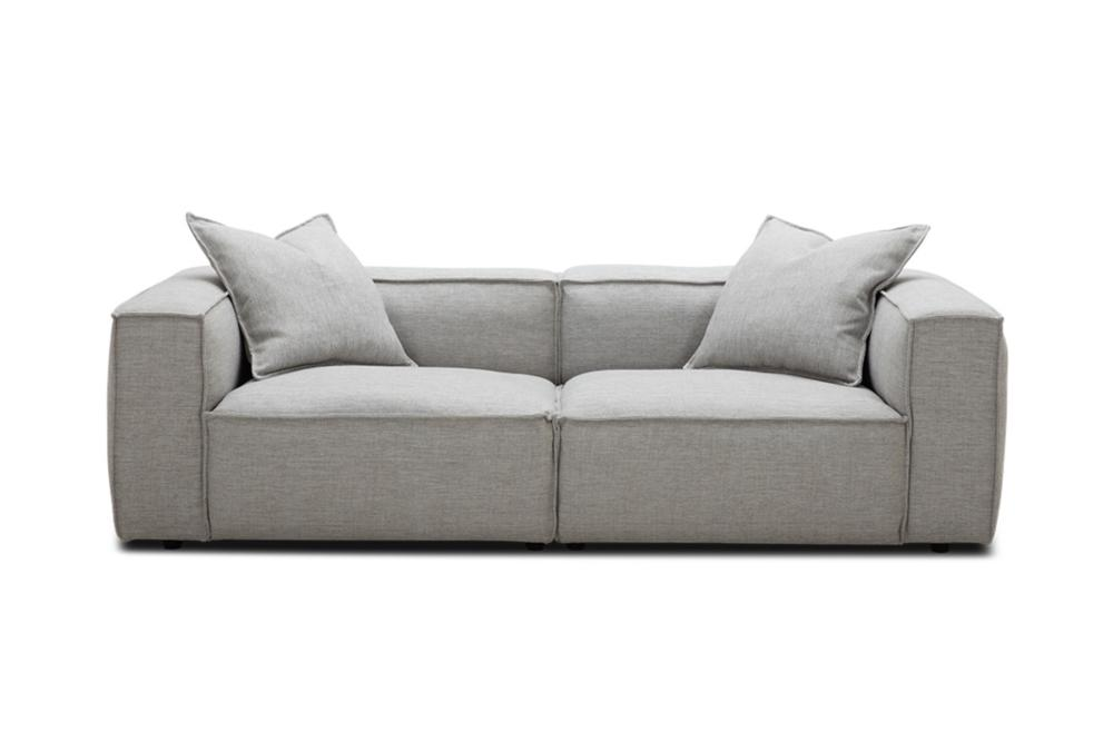 Basso 3 Seater in Pale Grey Weave