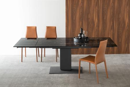 Dining tables furniture echo pedestal table buy for Calligaris echo