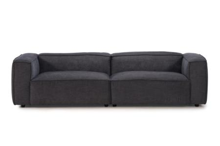 Basso 4 Seater Sofa Charcoal Weave