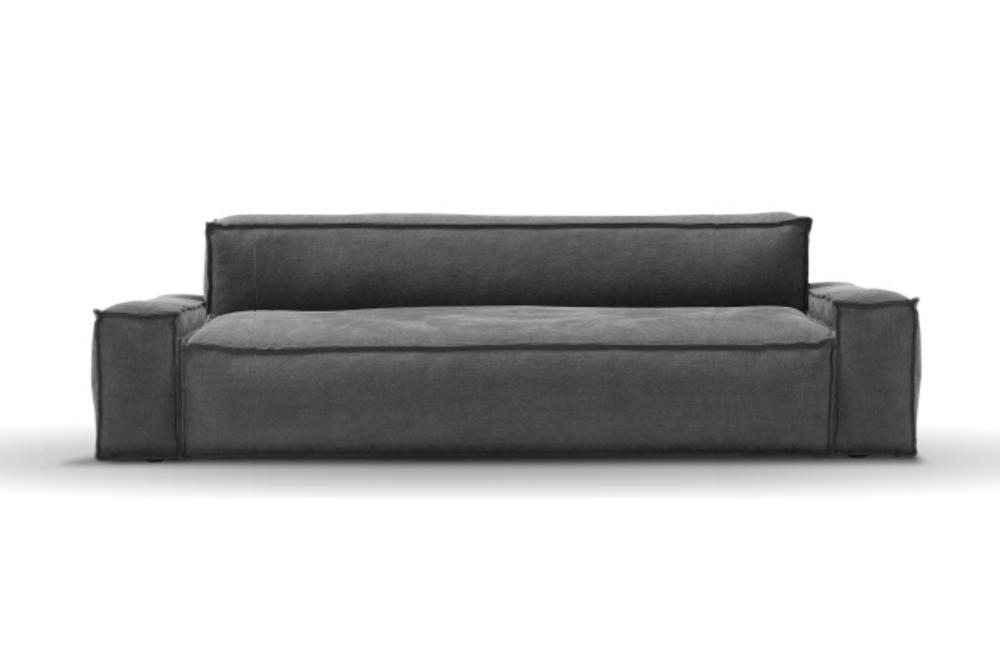 Davis LGE Sofa 250cm: Stone / Dark Grey