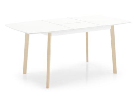 Cream cs4063 R P02 P94 op  Calligaris Cream Table and Chairs  Calligaris, Cream, Table, white, red, natural timber