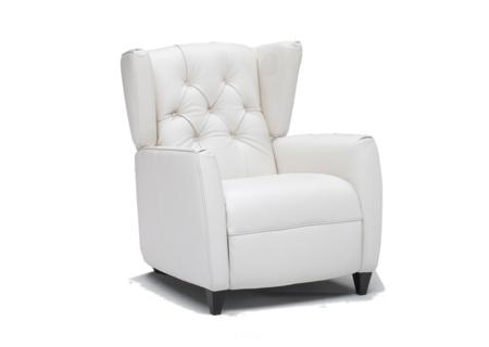 Symphony recliner with speakers in White Leather  Symphony Recliner Chair with Sound Speakers in leather  Symphony Recliner Chair with Sound Speakers in leather Natuzzi Group Editions B546