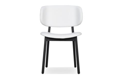 Calligaris Claire Chair White Leather Graphite Base  Claire Chair White Leather Graphite