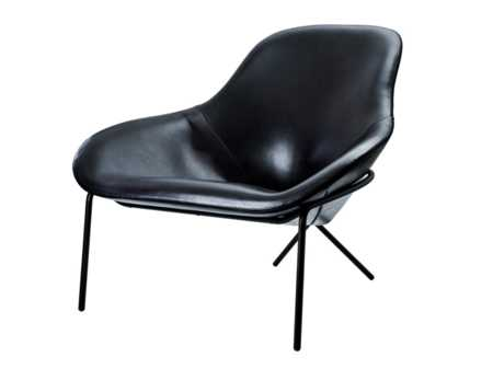 Cross leg chair - Amura - Angle View - Black Leather.jpg  Cross Chair - Black leather - angled shot - Magnus Long Amura Italy  Cross leg chair - Amura - Angle View - Black Leather.jpg Cross Chair - Black leather - angled shot - Magnus Long Amura Italy