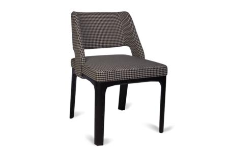 Cass Dining Front  Cass Dining Chair Houndstooth  Cass Dining Chair Houndstooth