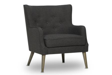 Streisand Dark Grey Oak Wash Leg Angle  Streisand Armchair Dark Grey